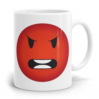 """Emoji Emoticons Tasse """"Schmollendes Gesicht"""""""