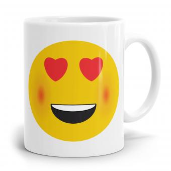 """Emoji Emoticons Tasse """"Herzförmigen Augen"""""""