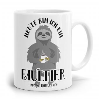 Faultier Tasse - Heute bin ich ein Faultier
