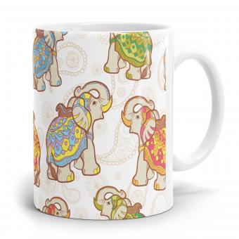 Elefant Tasse - Rundumdruck Pattern