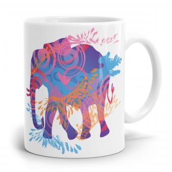 Elefant Tasse - Bunt, Wasserfarben