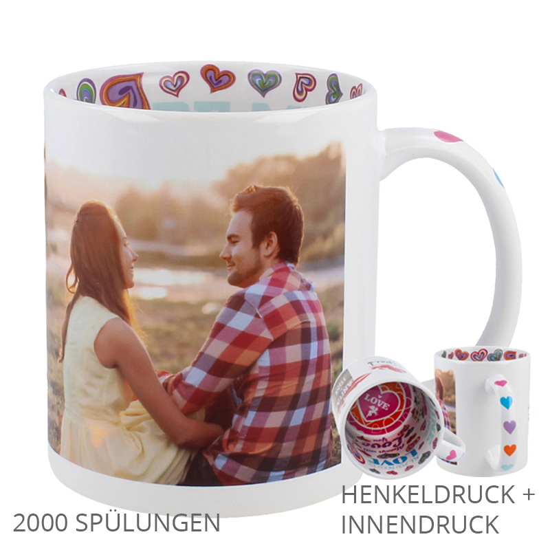 love tasse mit henkel u innendruck. Black Bedroom Furniture Sets. Home Design Ideas