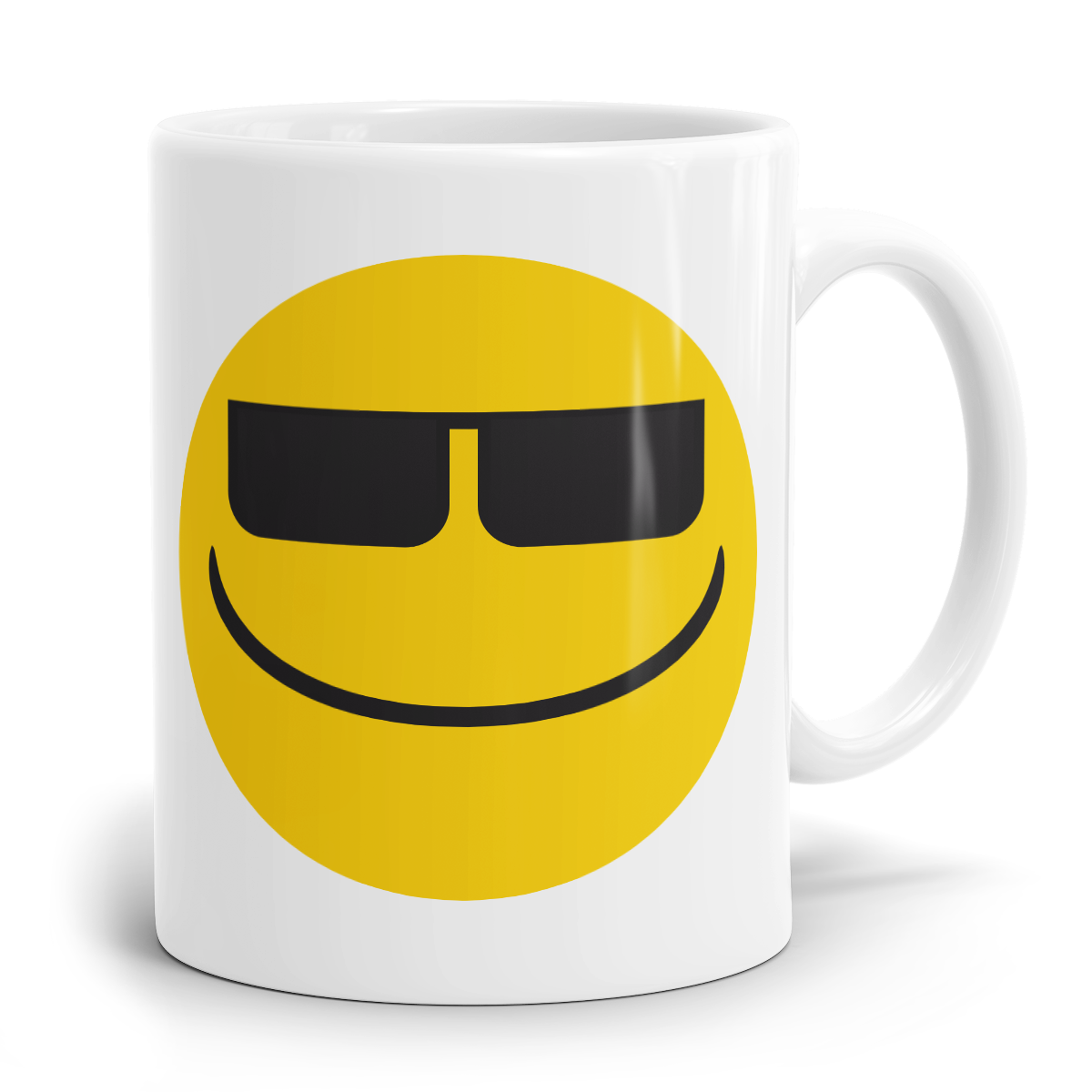 emoji tasse gesicht mit sonnenbrille. Black Bedroom Furniture Sets. Home Design Ideas