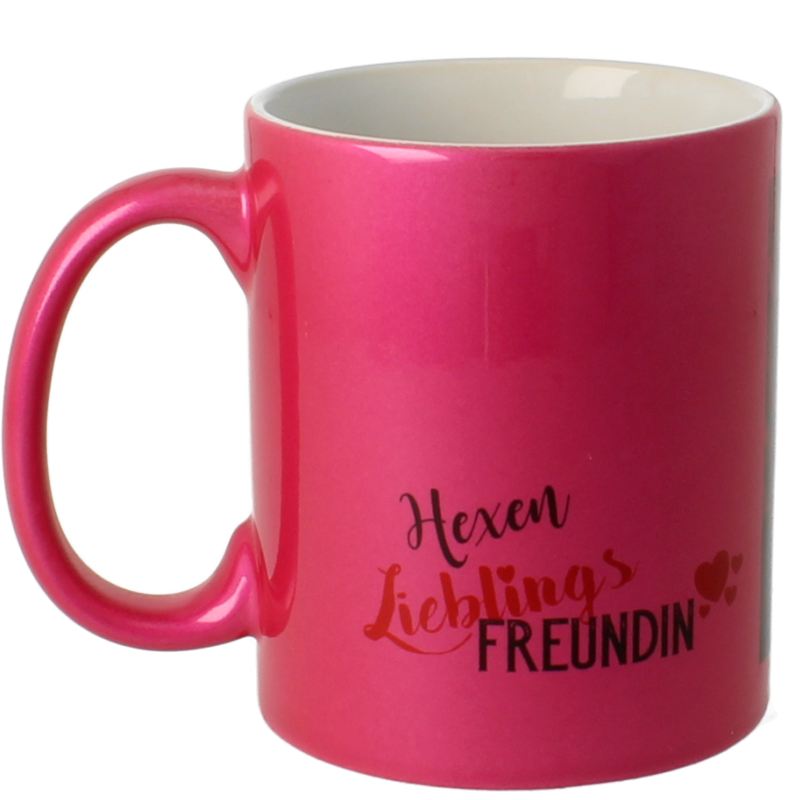 metallic tasse in dunkelrosa bedrucken. Black Bedroom Furniture Sets. Home Design Ideas