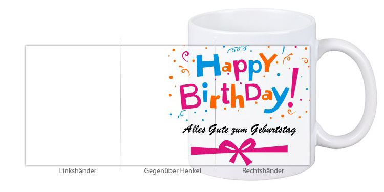 "Geburtstagstasse ""Happy Birthday"" Design1"
