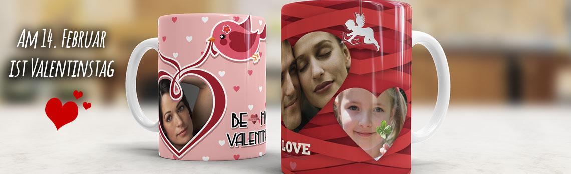 Fototasse zum Valentinstag verschenken